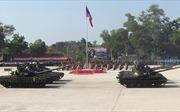 Lào khoe xe tăng tiên tiến nhận từ Nga trong lễ diễu binh