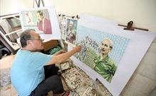 [Megastory] Người họa sĩ sở hữu 500 bức ảnh Bác Hồ được ghép từ những con tem