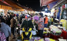Cận ngày 20/10, chợ hoa Quảng An nhộn nhịp bán mua