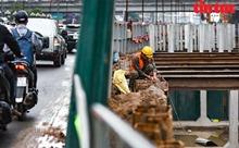 Toàn cảnh công trường hầm chui 700 tỷ đồng Lê Văn Lương-Vành đai 3