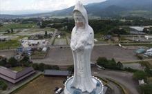 Tượng Phật Quan âm cao 57m được đeo khẩu trang với mong muốn COVID-19 tiêu tan