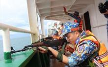 Vùng Cảnh sát biển 4 tổ chức thành công đợt huấn luyện và bắn súng pháo trên biển