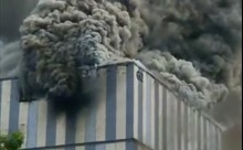 Cháy nổ, khói bốc ngùn ngụt tại trung tâm thí nghiệm của Huawei ở Trung Quốc