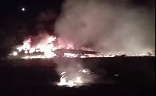 Hình ảnh hiện trường rơi máy bay quân sự tại Ukraine