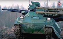 Quân đội Nga phô diễn dàn xe tăng robot mới