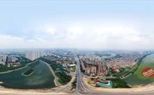 Ảnh 360: Công trường 2 cầu vượt thấp qua bán đảo Linh Đàm