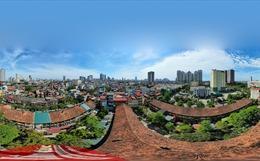 Khu tập thể 50 năm tuổi tại phường Nguyễn Trãi (Hà Đông, Hà Nội) đang chờ sập