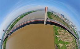 Chiêm ngưỡng vẻ đẹp toàn cảnh của cầu thép dây văng lớn nhất Việt Nam