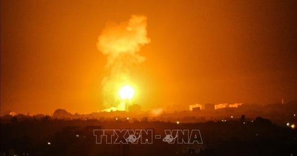 Israel không kích đáp trả vụ bắn rocket từ Dải Gaza